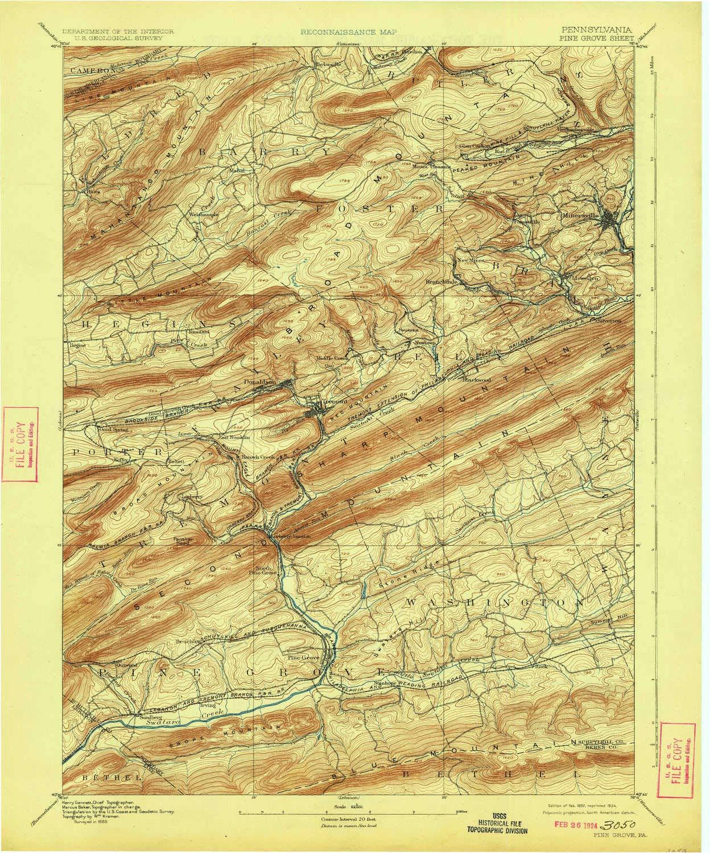 Amazon Com Yellowmaps Pine Grove Pa Topo Map 1 62500 Scale 15 X