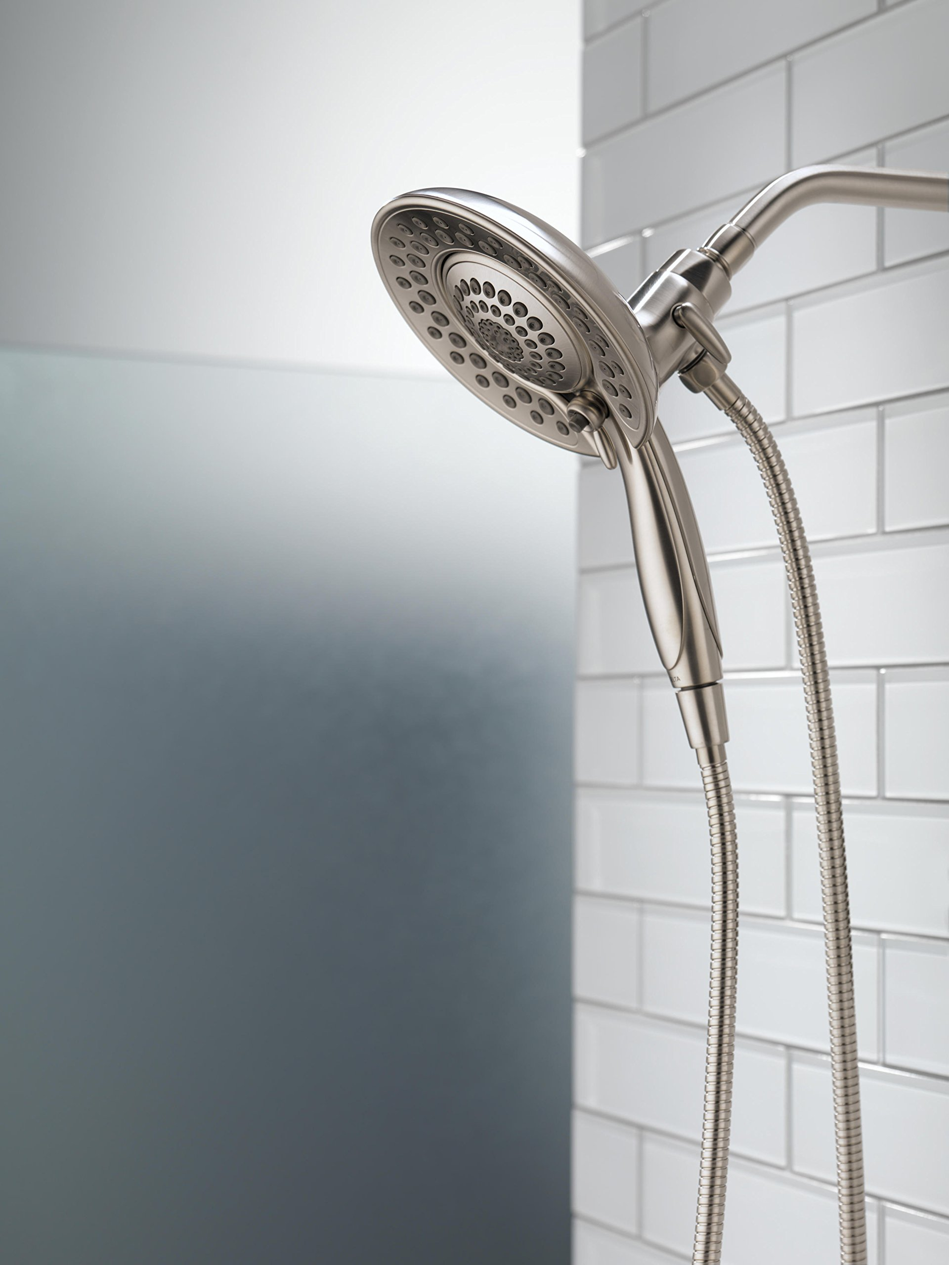 Delta 58569-SS-PK 5-Spray Touch Clean In2ition 2-in-1 Hand Held Shower Head with Hose, Stainless by DELTA FAUCET (Image #8)