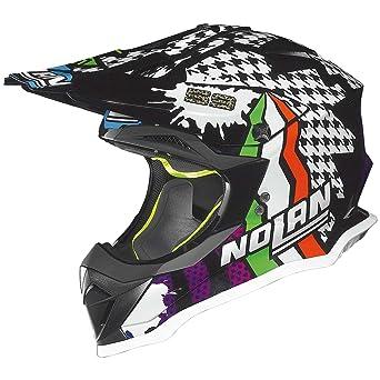 Nolan N53 Practice Réplica N. canepa Cross Casco Moto Lexan N- Com – Metal