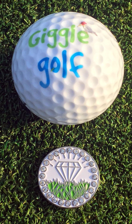 Giggle Golf par 3 - Diamante en bruto toalla, T bolsa y ...