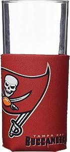 Logo Brands Officially Licensed NFL Unisex Flat Coozie Drink Holder, One Size, Team Color