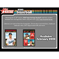 $79 » 2020 Topps Heritage Baseball Factory Sealed 24 Pack Retail Box - Fanatics Authentic Certified - Baseball Complete Sets