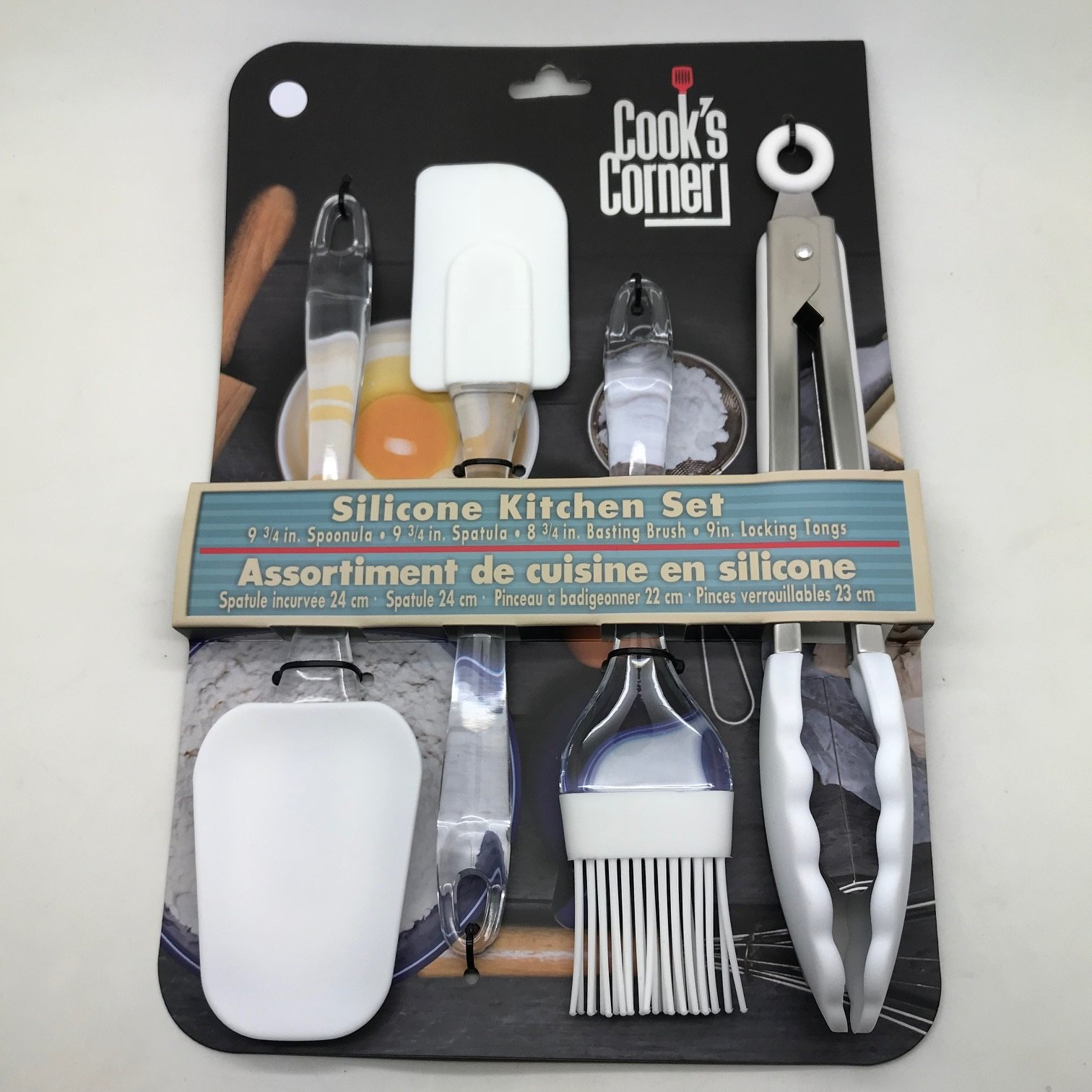 Cook's Corner 4-Piece Silicone Kitchen Tool Set (White) by Cook's Corner (Image #1)