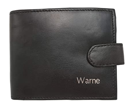 c0134aa49fff Image Unavailable. Image not available for. Colour  Personalised RFID  Blocking Mens Designer Wallet ...