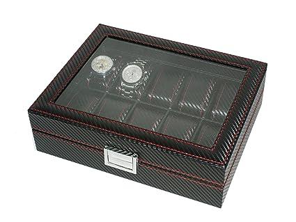 Vitrina Carbon fiber guarda 12 relojes