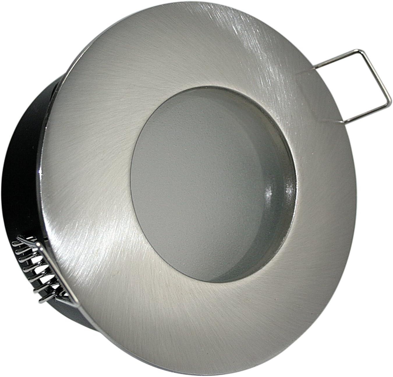 12V LED Badezimmer Einbaustrahler IP65 inkl 5W = 50W Power LED GU5,3 Niedervolt