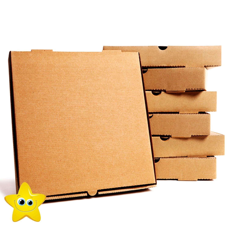 Brown 12 50 x Pizza Boxes Plain Brown Postal Box Takeaway Style Box