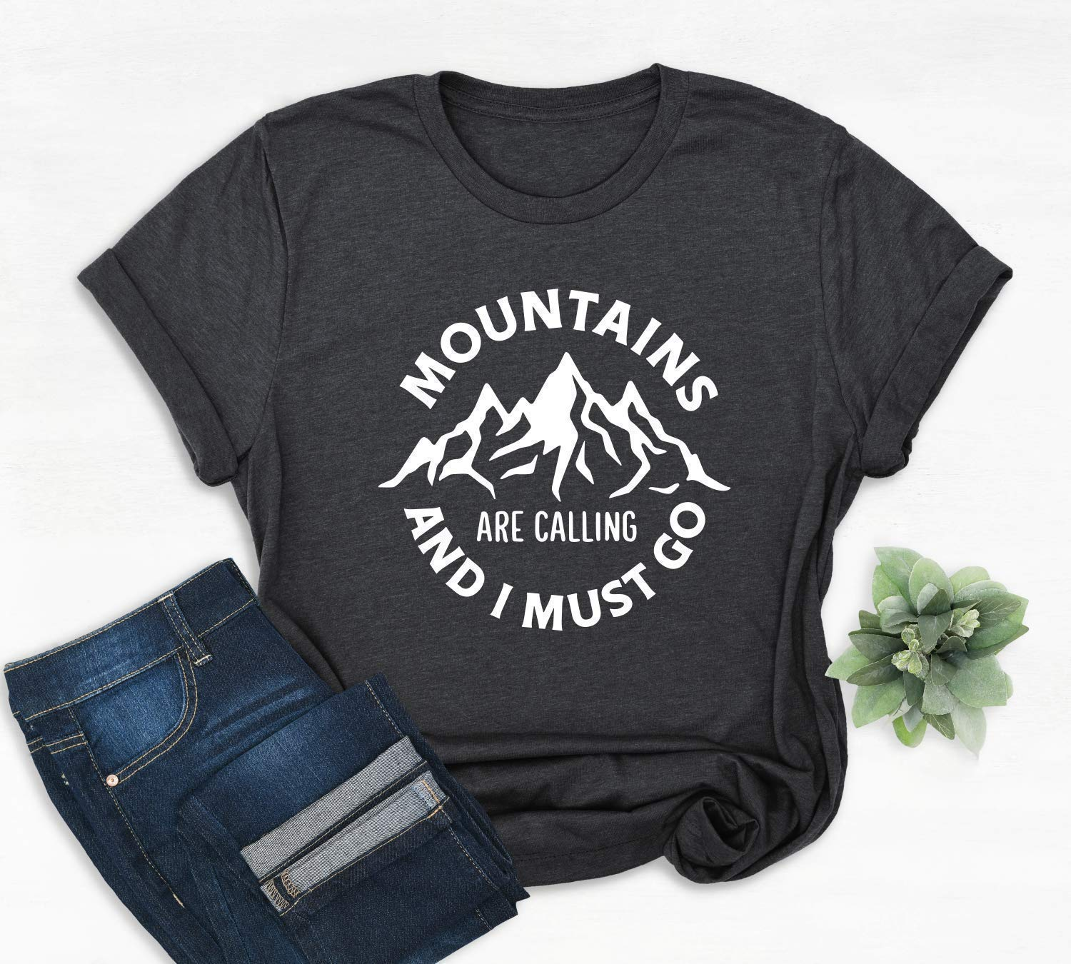 Camping Hiking Vacation Shirt The Mountains Are Calling And I Must Go Tee