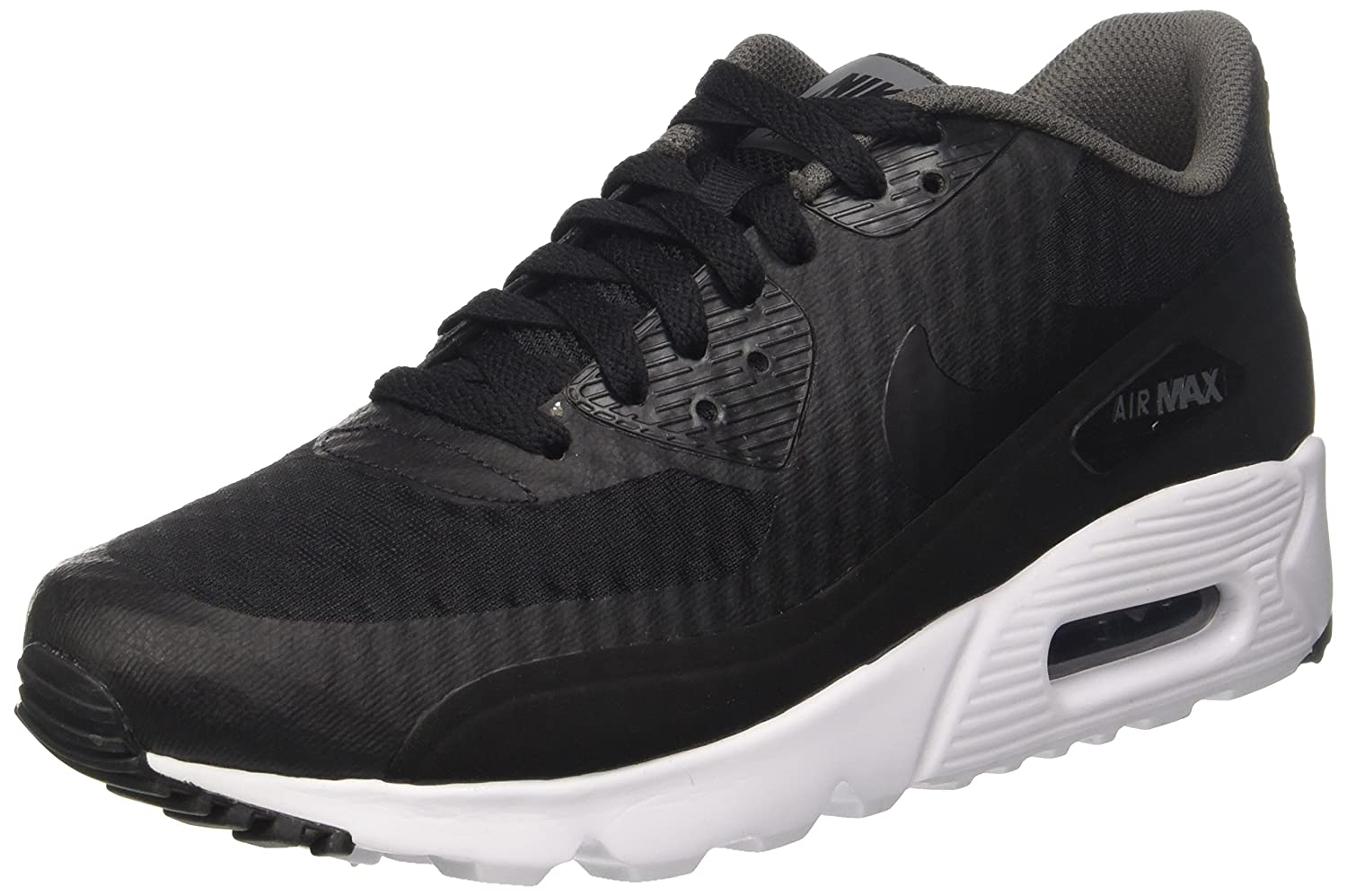 Helpful Nike Air Max 90 Ultra Essential Dark Grey White Black 819474 013 Men's Sport Running Shoes Trainers