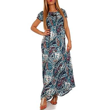 b78b27df8176 Young-Fashion Maxi-Kleid Carmen Kurzarm und mit Ausschnitt - Als ...
