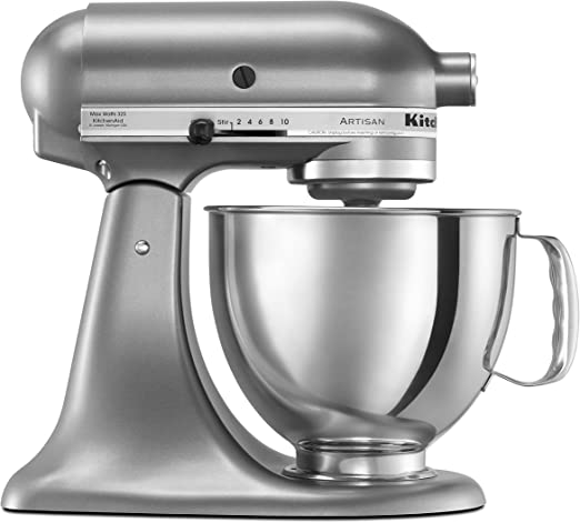 Kitchenaid Ksm150pscu Artisan Series 5 Qt Stand Mixer With Pouring Shield Contour Silver