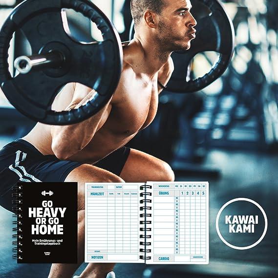 Diario de entrenamiento y dieta para entrenamiento de fuerza, gimnasio, entrenamiento en casa, culturismo, dieta, entrenamiento, gym, con control de ...