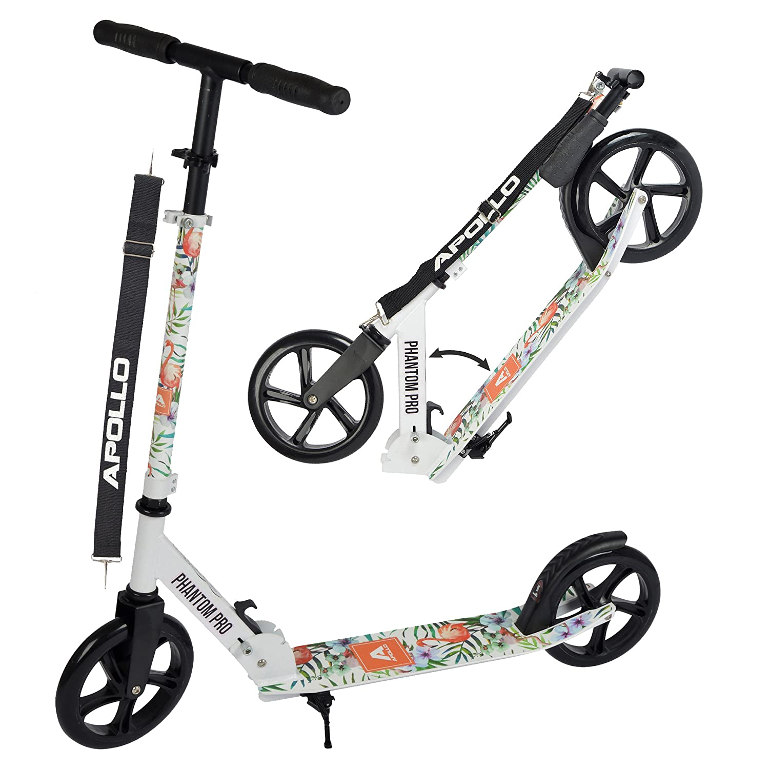 Apollo Big Wheel Scooter 200 mm - Phantom Pro Rosa es un City Scooter de Lujo, City Roller Plegable y Ajustable en Altura, Kick Scooter para Adultos y Niños 3S GmbH & Co. KG