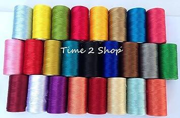 Carretes de hilo para bordado, de rayón 100% para máquinas de bordado, 25 unidades en los colores más solicitados: Amazon.es: Hogar