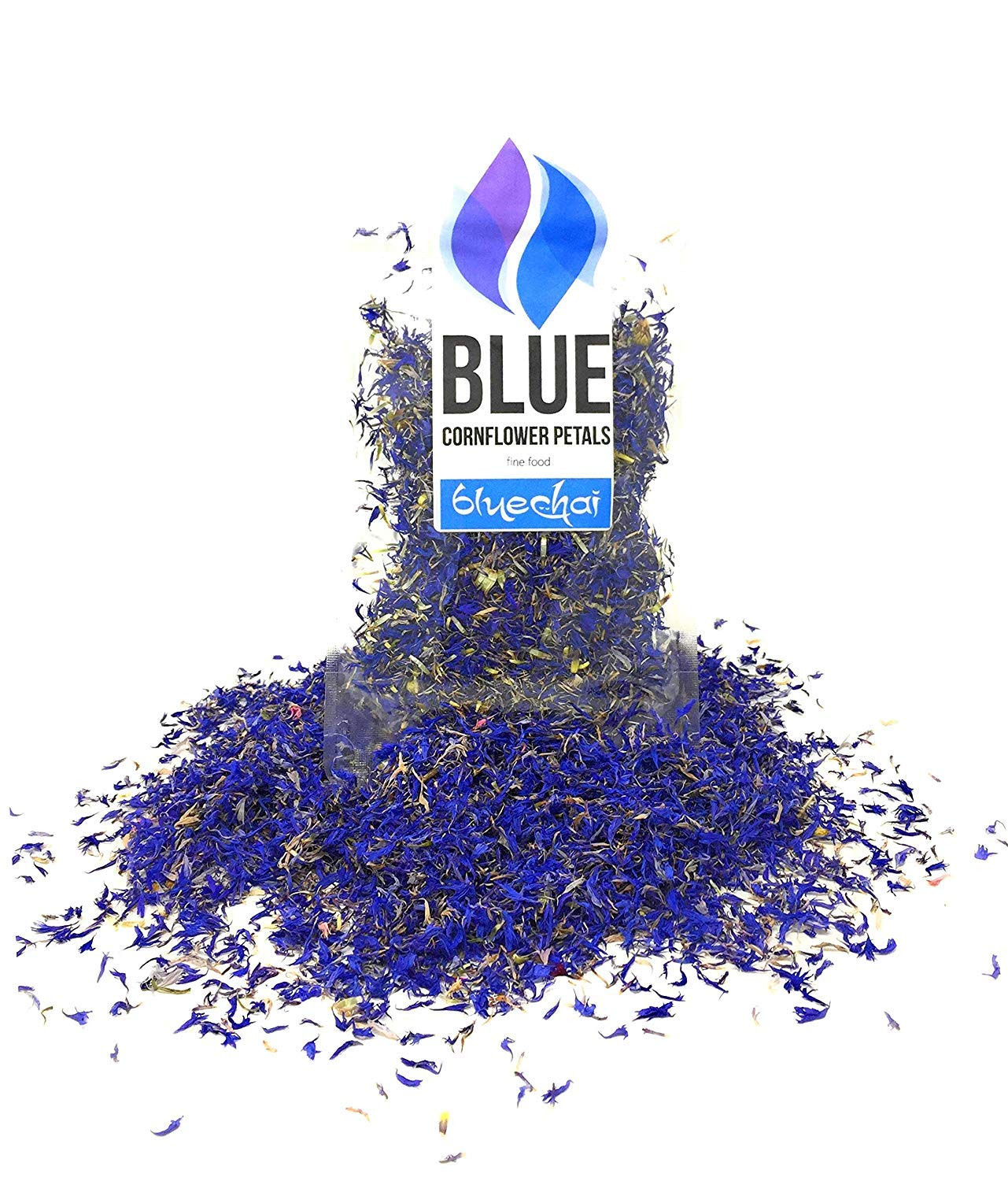 Pure Blue Cornflower Petals - 100% Organic, Dried, Grown in Germany - Natural Organically Grown Herbal Flowers for For Homemade Lattes, Tea Blends, Bath Salts, Gifts, Crafts (Centaurea cyanus)