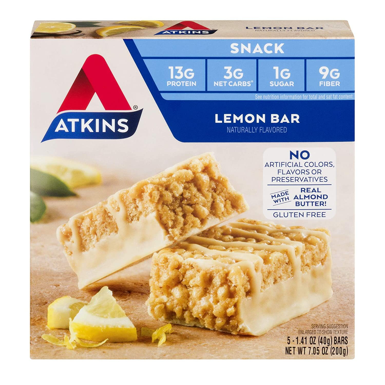 Amazon Com Atkins Snack Bar Lemon Keto Friendly 1 41 Oz