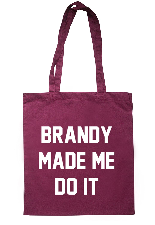 illustratedidentity Brandy Made Me Do It Tote Bag 37.5cm x 42cm with long handles TB0012-TB-NV