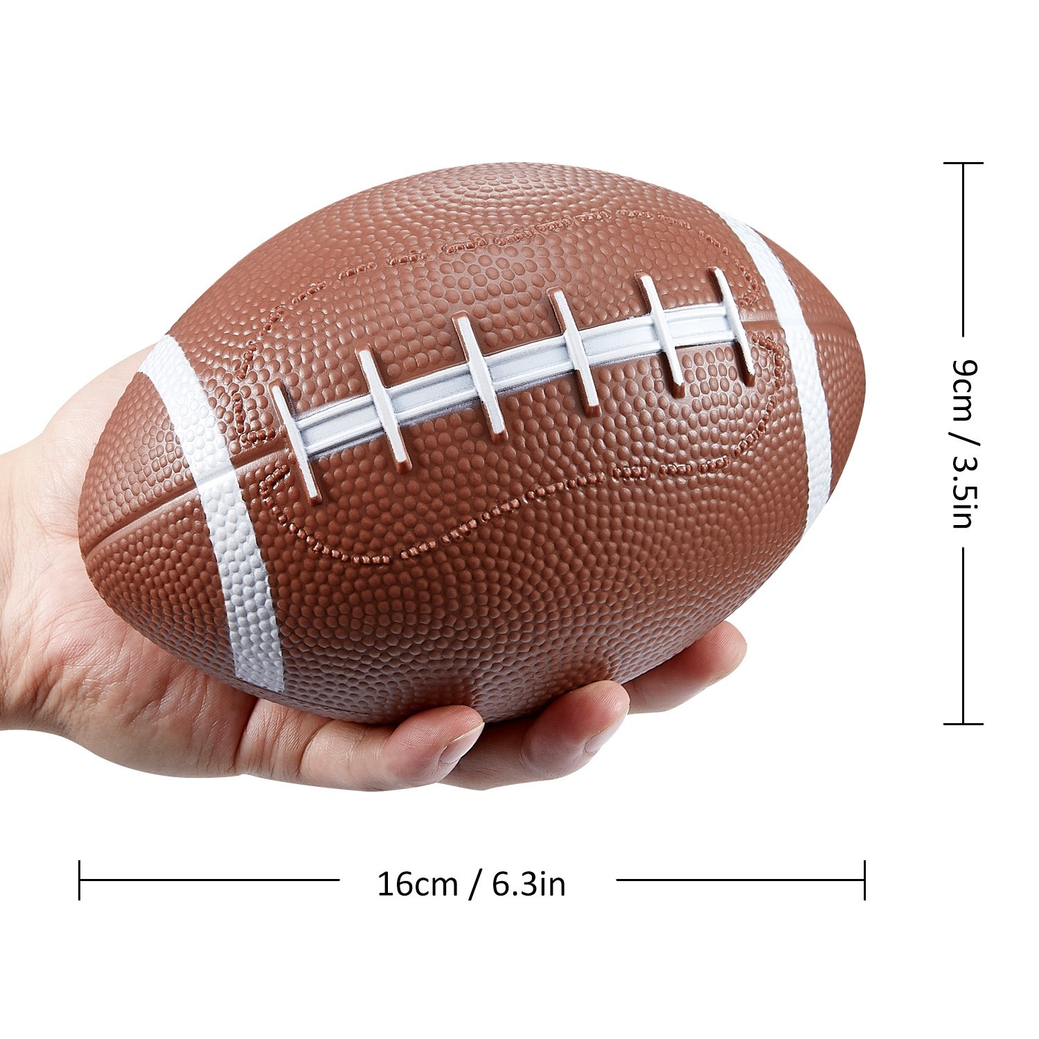 BESTTY Toddler Kids Replacement Mini Toy Football Rubber Football For Kids 3PCS With Pump Teenager 63.53.5 Inches Football