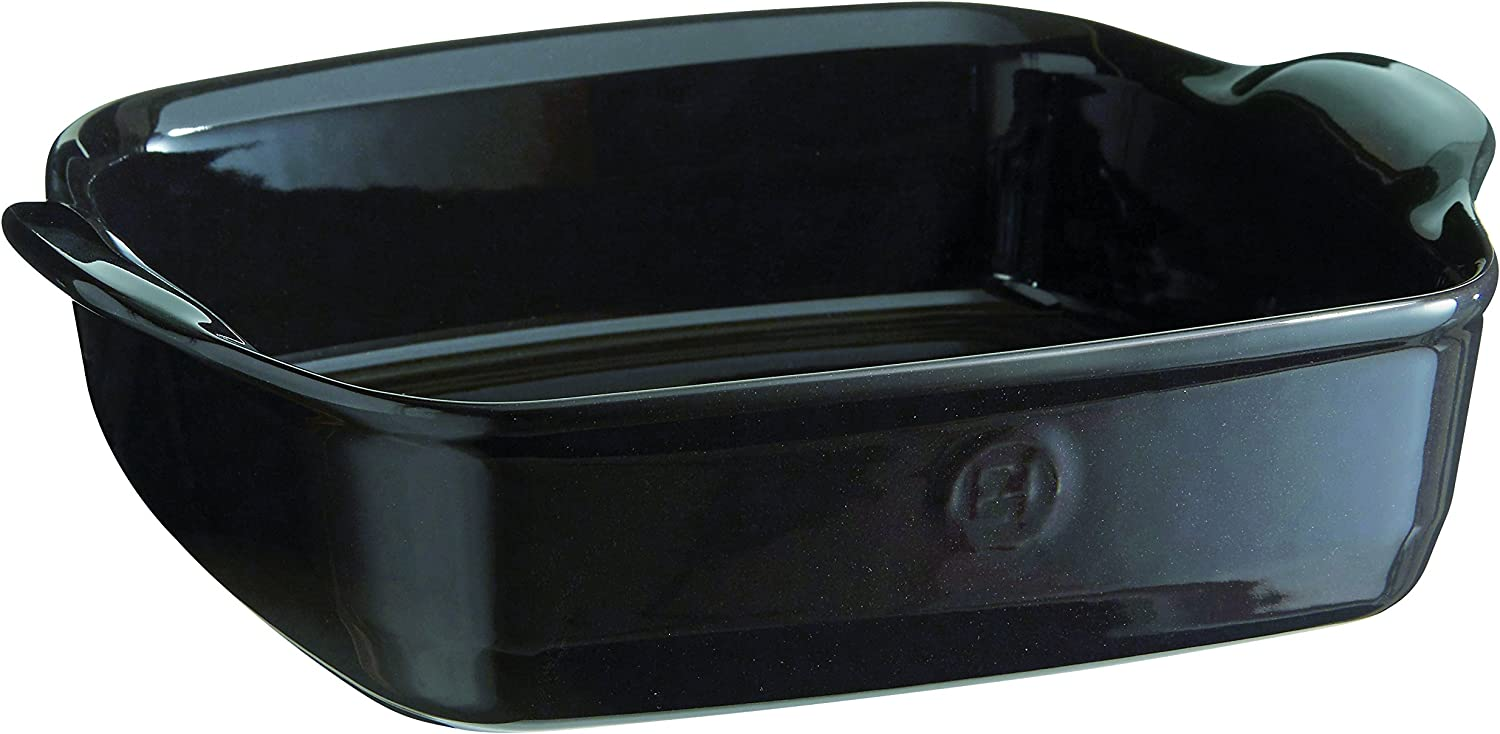 Emile Henry France Ovenware Ultime Square Baking Dish, Charcoal