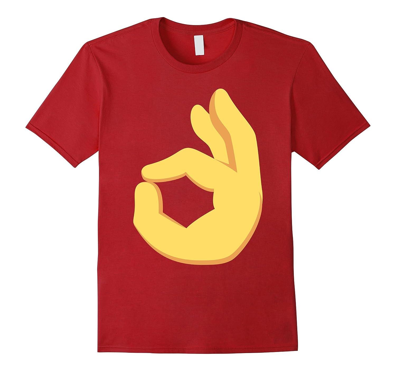 ok hand sign emoji face t shirt anz anztshirt