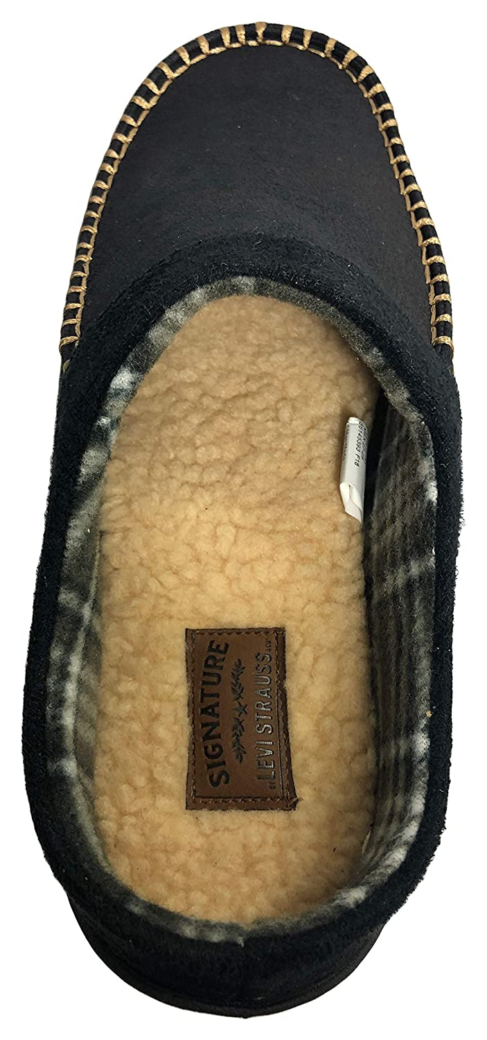 d0504c93 Amazon.com | Signature by Levi Strauss & Co Men's Distressed Clog Slipper (Small  7-8, Black) | Slippers