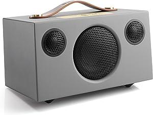 Audio Pro Addon C3 - Portable WiFi Wireless Multi-Room Speaker - High Fidelity - Compatible with Alexa - Grey