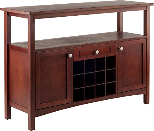 Winsome Colby Buffet Cabinet, Walnut, 45.51×15.75×32.05