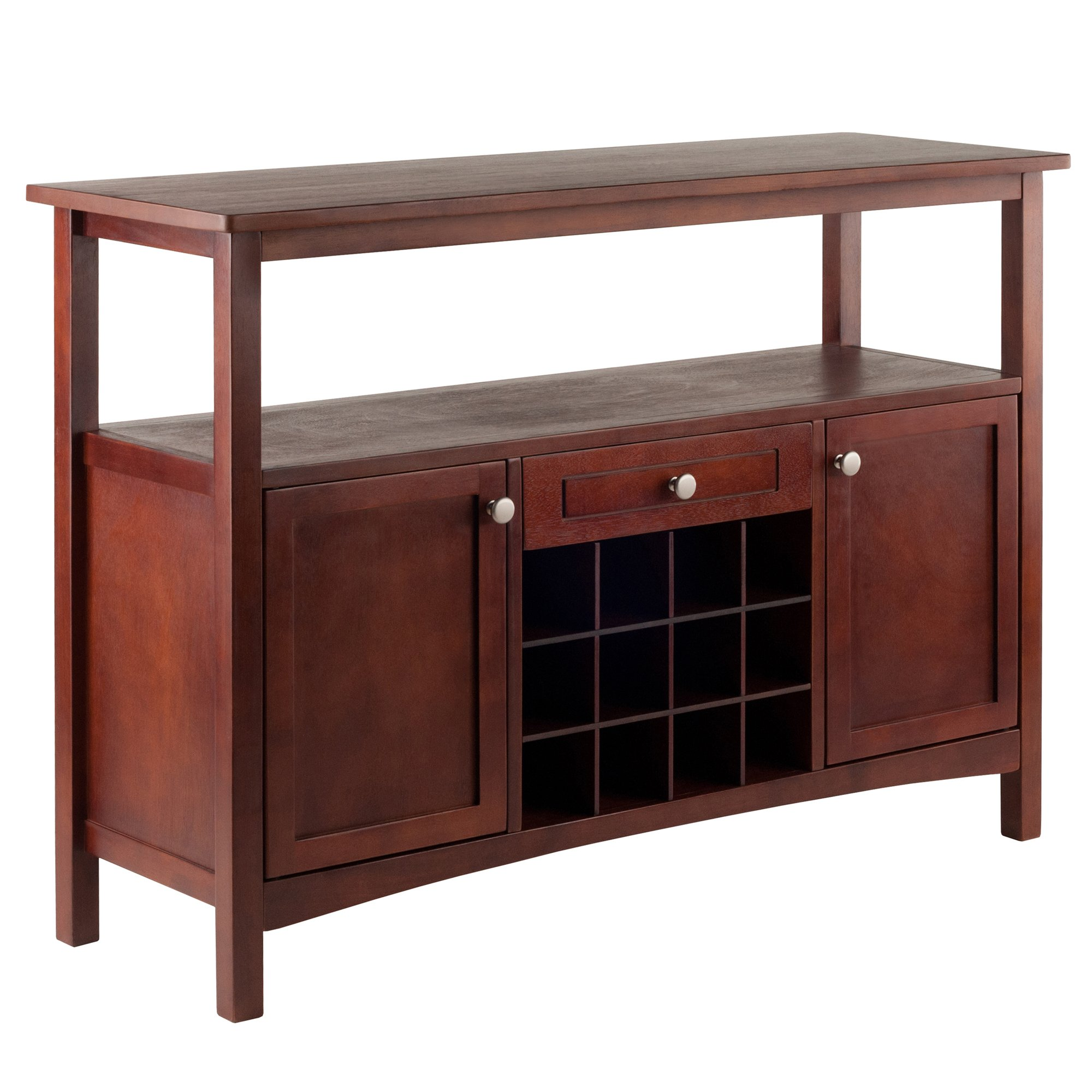 Winsome Wood 94745 Colby Buffet Cabinet, Walnut, 45.51x15.75x32.05