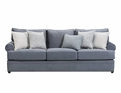 Simmons Upholstery 8530BR 03 Seven Seas Abington Sofa, Light Blue