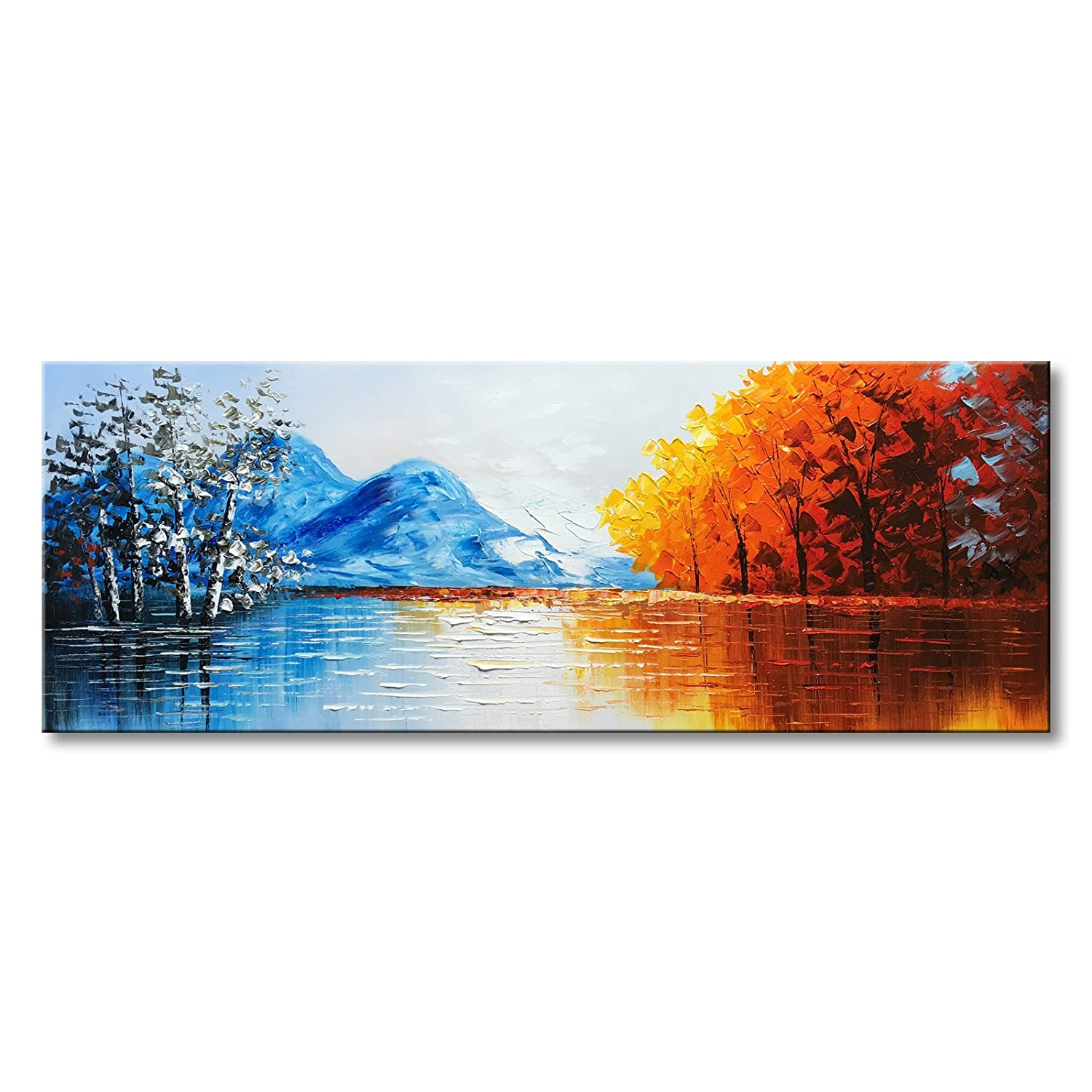 Abstract Nature Scene Wide Painting For Living Room