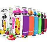 Willceal Fruit Infuser Water Bottle 32oz Durable, Large - BPA Free Tritan, Flip Lid, Leak Proof Design - Sports, Camping