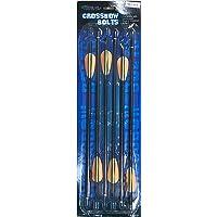 Perfectline Flechas y Pernos de Aluminio Rojo de 16 Pulgadas, Paquete de 6 Unidades