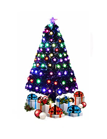 Fibre Optic 5FT Green Christmas Tree with Multi LED Lights - T821A by  ihidirect - Fibre Optic 5FT Green Christmas Tree With Multi LED Lights - T821A