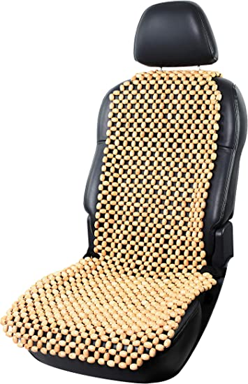 Lacy Wood Holzkugel Holzperlen Massage Sitzauflage Sitzbezug Sitzmatte Sitzaufleger Sitzbelüftung Natur Auto