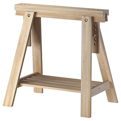 Attirant IKEA Beech Wood Desk Table Leg Trestle With Shelf , Height And Angle  Adjustable , Also
