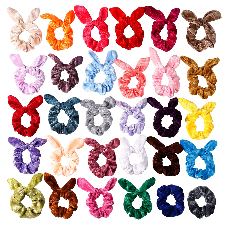 Bunny Ear Scrunchie Thanksgiving Scrunchie Bow Scrunchie Top Knot Scrunchie Turkey Scrunchie