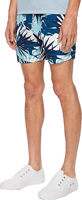 c47c2ffd01 Onia Men's Charles 5 Cote D¿Azure Palms Swim Shorts Aegean Sea Multi Large  at Amazon Men's Clothing store: