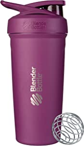 BlenderBottle Strada Insulated Shaker Bottle with Locking Lid, 24-Ounce, Plum