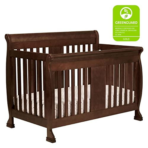 DaVinci Porter 4-in-1 Convertible Crib with Toddler Bed Conversion Kit in Espresso, Greenguard Gold Certified