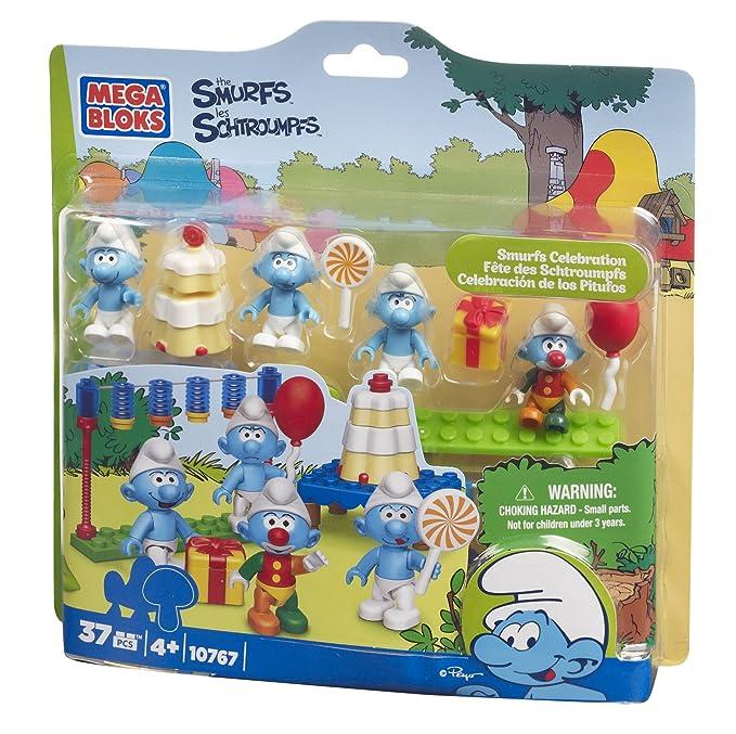 Amazon.com: Mega Bloks Pitufos celebración: Toys & Games