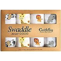 CuddleBug Mantas de Muselina Unisex - 4x Pack