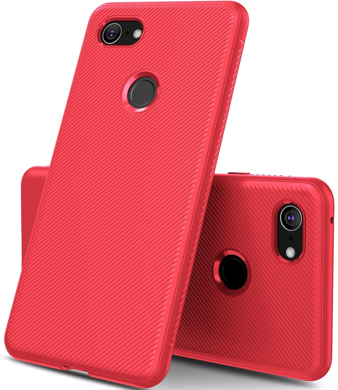 GeeMai Coque Google Pixel 3 XL, Ultra Mince Silicone Cas Transparent Transparent Cas Souple TPU Cas Mobile Té lé phone Case pour Google Pixel 3 XL Smartphone(Noir)