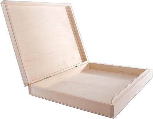 SearchBox Caja de tamaño Mediano con Tapa y Cierre de Madera ...