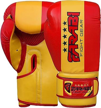 Farabi – Guantes de Boxeo para niños Junior Bandera Serie formación Bolsa Bolsas de Almohadillas de Entrenamiento de Boxeo Sparring Super Calidad Bandera Serie (España, 6-oz): Amazon.es: Deportes y aire libre