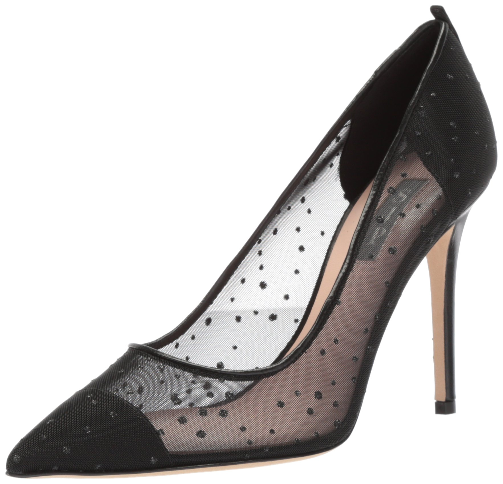 SJP by Sarah Jessica Parker Women's Glass Pump, Black Raindrops Fabric, 39 B EU (8.5 US) by SJP by Sarah Jessica Parker