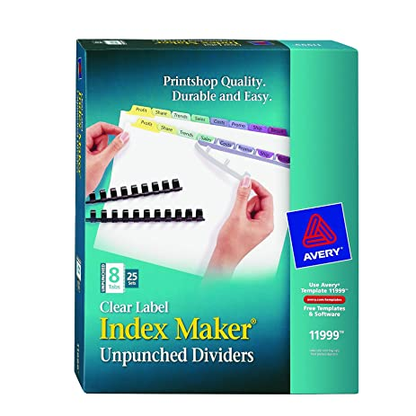Amazon avery index maker clear label dividers easy apply avery index maker clear label dividers easy apply label strip 8 tab saigontimesfo