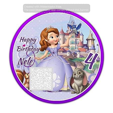 24 Disney Princess Sofia Die Erste Kuchendeckel Amazon De Kuche