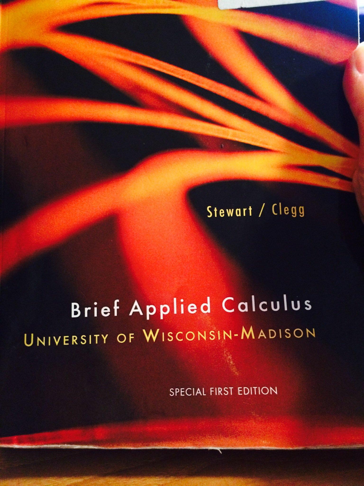 Brief Applied Calculus UW Madison editon Amazon