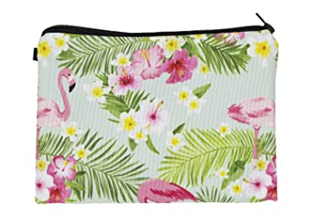 Amazon.com   StylesILove Stylish 3D Printed Multi-use Traveler Organizer  Cosmetic Small Makeup Pouch Bag (Flamingos Multi)   Beauty 66ab14e356