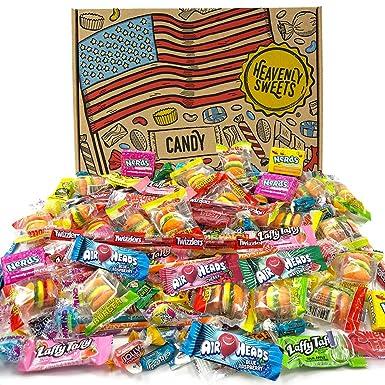 Heavenly Sweets Selección Dulces Americanos Party Mix - Surtido +120 Golosinas de EE.UU. - Regalo de Cumpleaños, Navidad, Halloween para Niños y ...